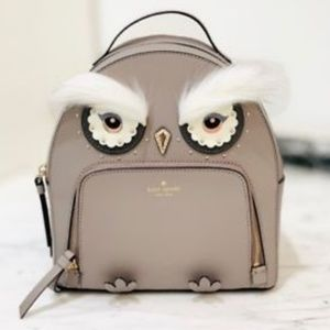 Kate Spade Bright Owl Tomi Backpack Cityscape Grey